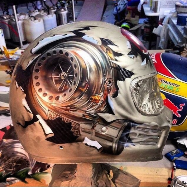 "Arts Kulture Kustom: ""Art in Helmet By:"