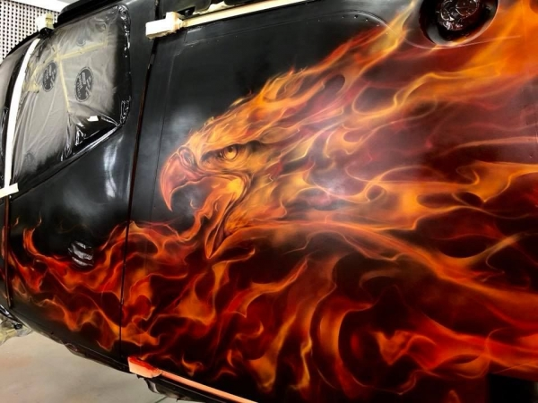 Step by Step - Real Flames on Helicopter