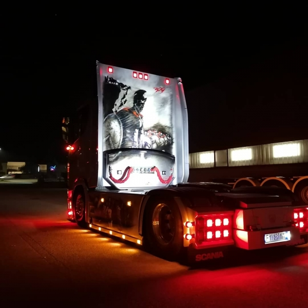 The Spartan - Scania Show Truck by ArteKaos Airbrush
