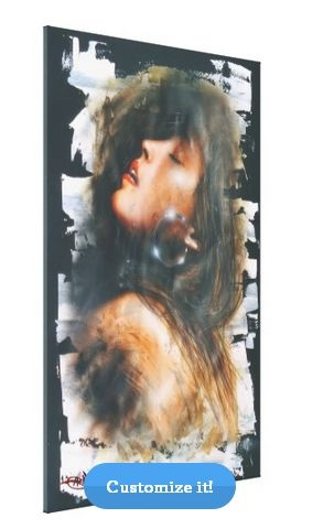 """$155 - """"Lilith""""... ArteKaos Wrapped Canvas Gallery - 40 x 60"""