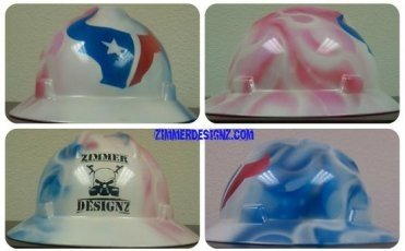 Airbrush hard hats and helmets Houston Texas - Airbrush Houston