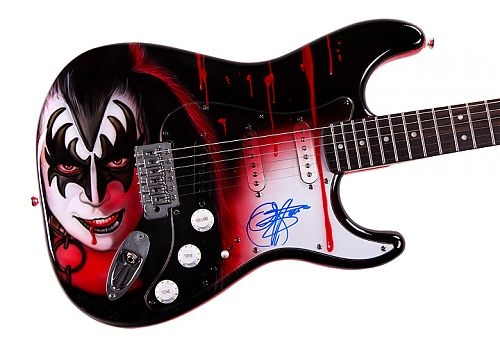 $2,525.79 .... KISS Gene Simmons Autographed Airbrush Guitar
