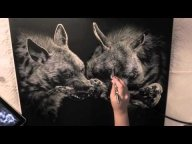 ▶ Striped Hyenas - Airbrushing - Super! - Airbrush Step by Step