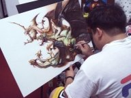 How to Airbrush Boris Master Piece on canvas - WetCanvas - Airbrush Step by Step