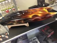 The RC boat I flamed out is now sitting in RC Hobbies Houston West. - My Designs