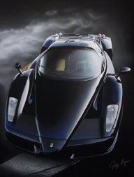 Ferarri Enzo Airbrush Art by TonyRegan - Favorite Art