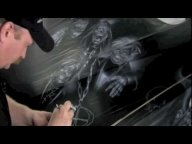 Mike Lavally King of air brush, Jack Osbournes BMW X5 - YouTube - Airbrush Videos