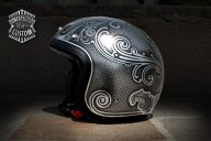 "Custom Helmet ""Old School n°1.2"" - Unexpected Custom - Fine Arts Unlimited ...for Bikers - Kustom Airbrush"