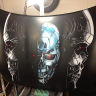Terminator bonnet / hood complete, ready for clear.  - Kustom Airbrush