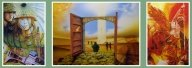 "Triptychon for the ""Bundeswehr""...airbrush on canvas - Airbrush Artwork and Murals"
