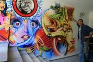 Wall for a pinball aficionado... - Airbrush Artwork and Murals