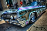 Amazing Blue Flamed Lowrider - Kustom Airbrush