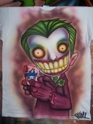joker-airbrush-t shirt by OKAMIAIRBRUSH - Airbrush Artwoks