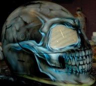 Skull on Helmet - Kustom Airbrush