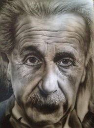Historical Genius: Albert Einstein | Airbrush History - Photorealism