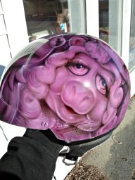Amazing Ms. Piggy Helmet - Favorite Art