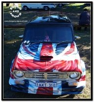 Union Jack Mini | Airbrush Art | Professional Air Brush Artist in Perth, WA - Airbrush Artwoks