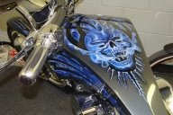Custom Tank Art | Kabes Customs Biker - Airbrush Artwoks