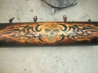 Tribal skull by UncleDs - Kustom Airbrush