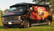 Stallion,airbrushed custom van by virtualvanner - Kustom Airbrush