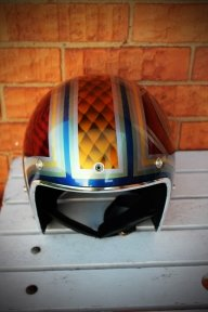 Custom helmet. - Cheekyairbrushing com au