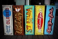 Hand - painted crates - Cheekyairbrushing com au
