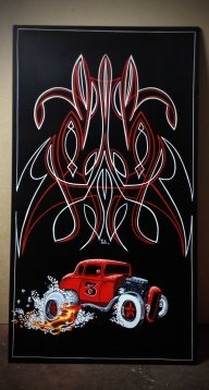 Hot rod pinstriping - Cheekyairbrushing com au