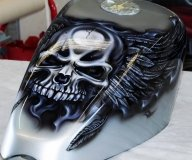 Skulls and Wings | Airbrush Art | Professional Air Brush Artist in Perth, WA - Airbrush Artwoks