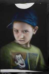 Portrait on T-shirt - Airbrush Artwoks