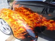Real Flames on Hot Road - Kustom Airbrush