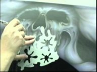 Airbrush stencil step by step - Creative Learning