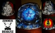 Oilfield Trash Dallas Cowboys hard hat by ZimmerDesignZ.com - Hard Hats