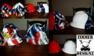 Mullet hard hats.  All business in the front and ROCK N ROLL in the back.  By ZimmerDesignZ.com - Hard Hats