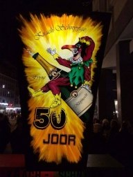 Basel (Switzerland) carnival lantern 2 x 1.5 meters - Airbrush Artwoks