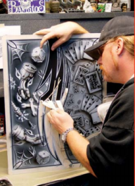 Artool 9 - Craig Fraser -Mastering Aces n Eights  - Airbrush Step by Step