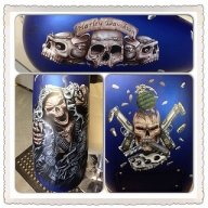 A picture of the completed murals on our latest Harley which is currently being cleared.  - Airbrush Artwoks