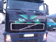 hulk truck airbrush, project started with front mask - Just Stuff