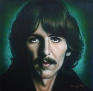 George Harrison by Tim Scoggins - George Harrison Painting - Fotorealismo