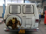 air-brushpainting weelcover - chevy van