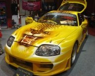 Toyota Supra in Air Brush by Sakura-Jen - Kustom Airbrush