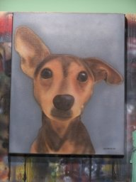 Magie the dog - Airbrush Artwoks