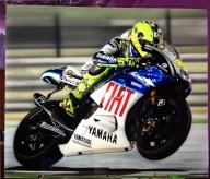 Valentino Rossi, airbrush photorealism on panel