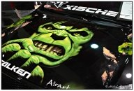 Hulk on bonnet - Tuning Cars Airbrush
