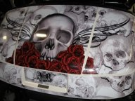 Cartaholics Golf Cart Forum - Bone Collector - Airbrush Artwoks
