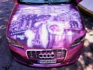 Pink panther car tuning by AerografiasJose - Tuning Cars Airbrush