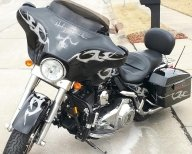 Skulls- Tribal Electra Glide - Custom Paint Motorcycles