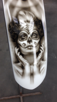airbrush on fender - Kustom Airbrush