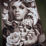 Airbrush on metal panel - Fotorealismo