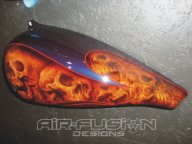 Skulls and Flames - Airbrush Artwoks