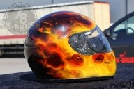 Airbrush True Fire Helmet Painting - Airbrush Videos